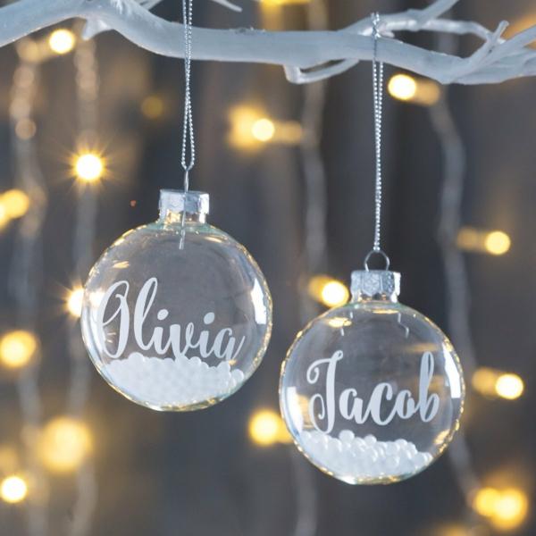 déco mariage hiver boules décoratives personnalisées