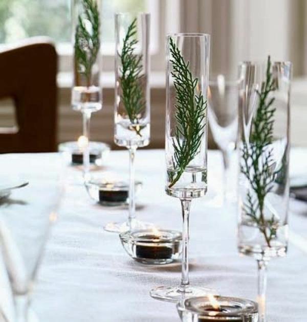déco mariage hiver chemin de table