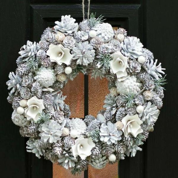 déco mariage hiver couronne festive