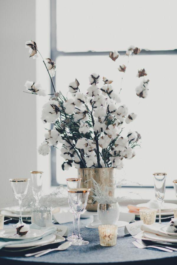 déco mariage hiver déco de table branches de coton