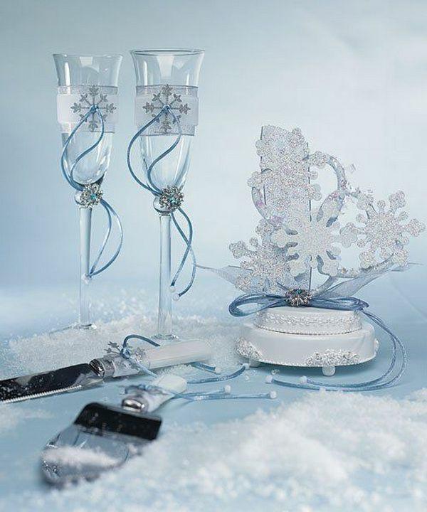 déco mariage hiver motif flocon de neige