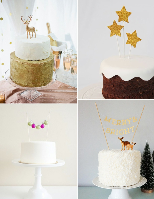 déco mariage hiver topper gâteau thème hiver