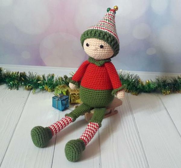 diy lutin de noël à tricoter