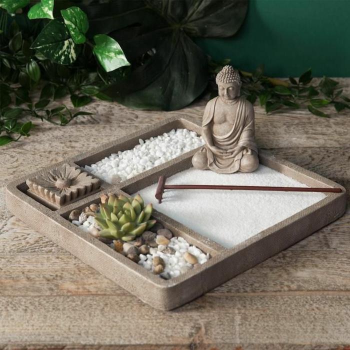 idée cadeau secret santa mini jardin zen