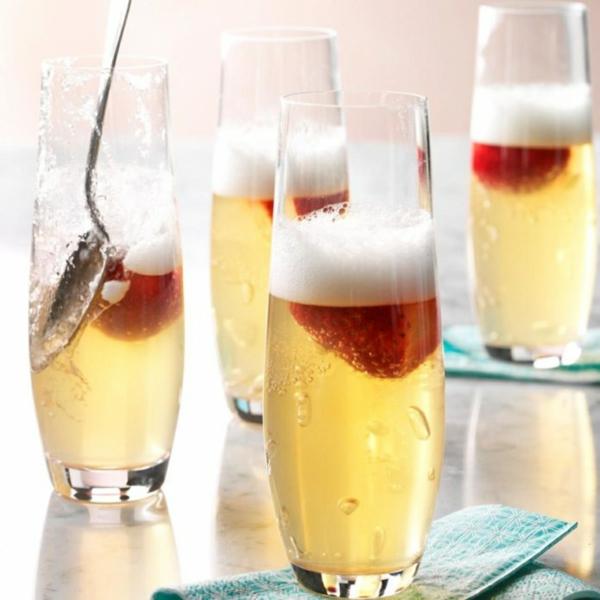 idée repas nouvel an Dessert gelé au champagne