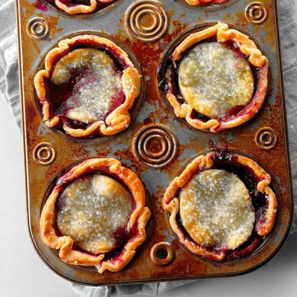 idée repas nouvel an Mini tartelettes aux myrtilles