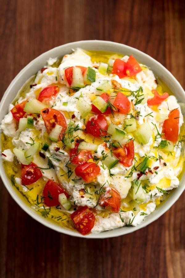idée repas nouvel an Salade grèque au fromage feta