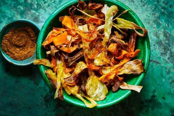 idée repas nouvel an légumes croustillants au curry