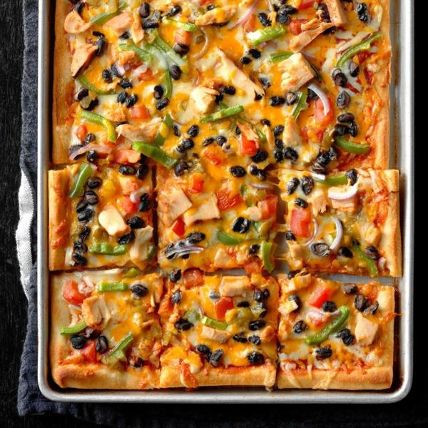 idée repas nouvel an pizza au poulet