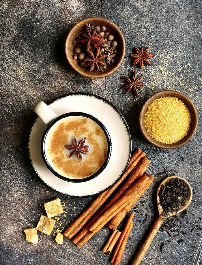 ingrédients chai tea latte masala boissons hivernales
