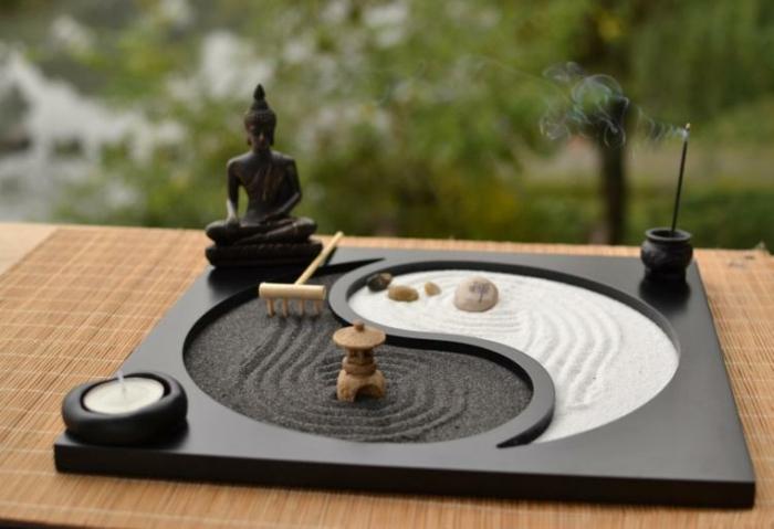 jardin zen miniature idée cadeau secret santa