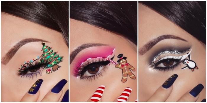 Maquillage Noël  20 idées pour rendre la fête sublime