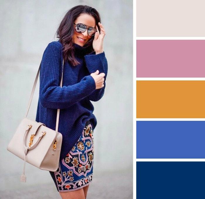 mode femme look tendance classic blue couleur pantone 2020