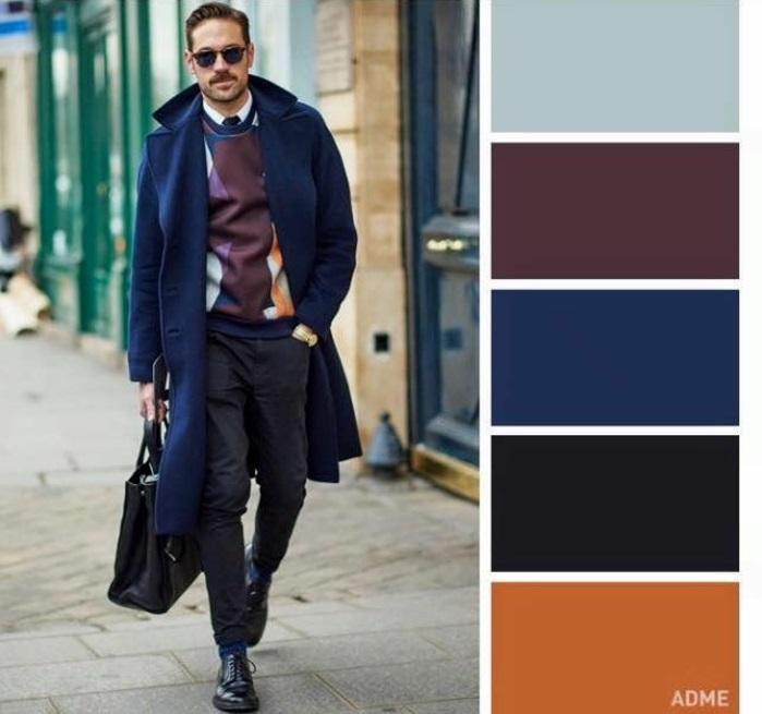 mode homme classic blue couleur pantone 2020