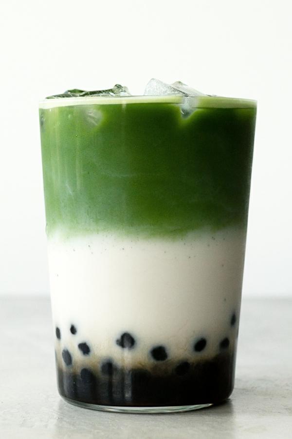 préparer thé aux perles avec du thé matcha