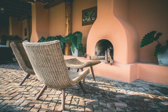 salon de jardin design idées meubles en rotin