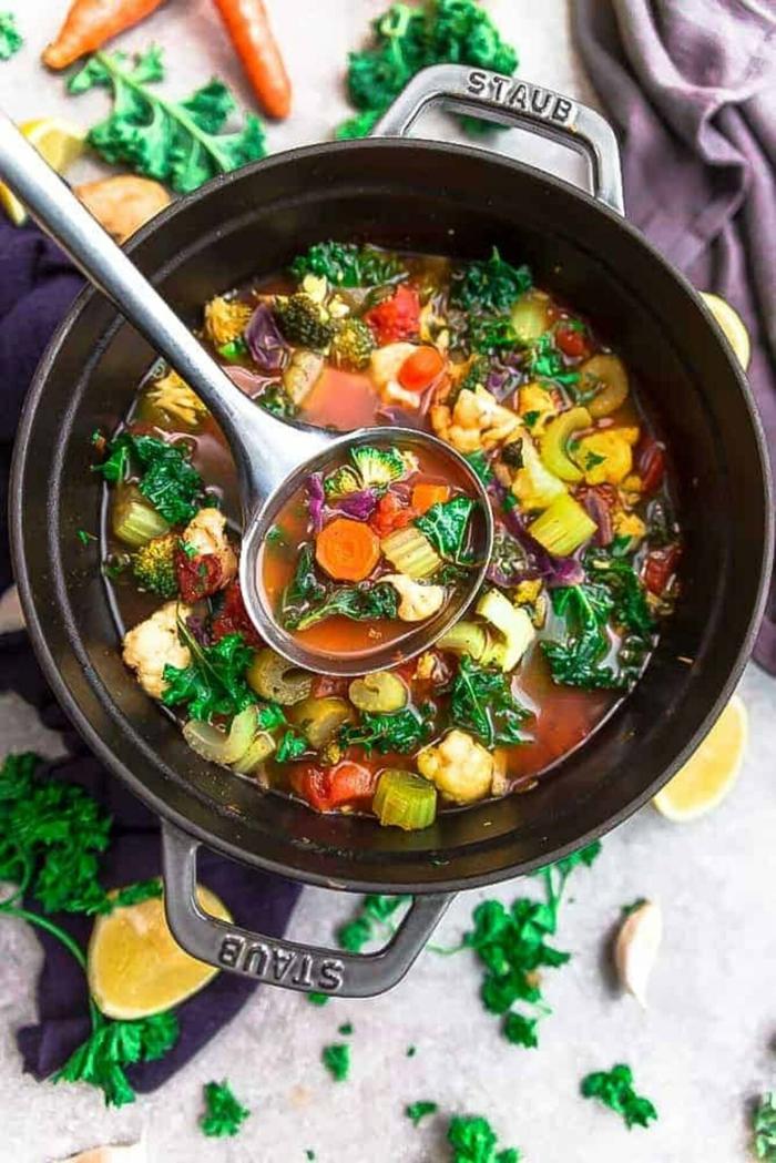 soupe végétale détoxifier son corps