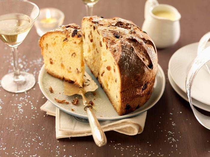 table festive pour noël recette panettone