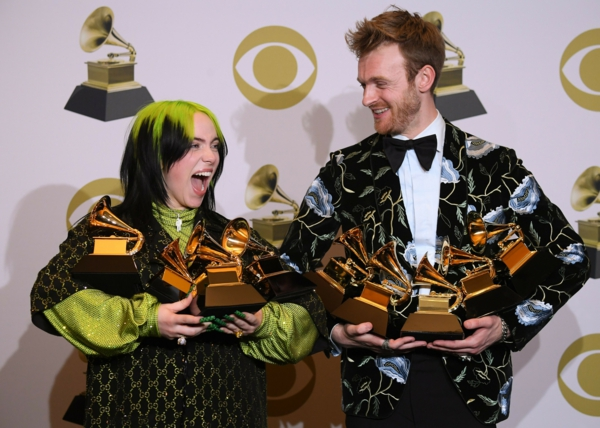 Grammy Awards 2020 billie eilish et son frère