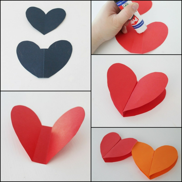 Guirlande cœur à réaliser en papier technique