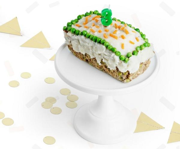 Recette de gâteau d'anniversaire pour chien à la viande