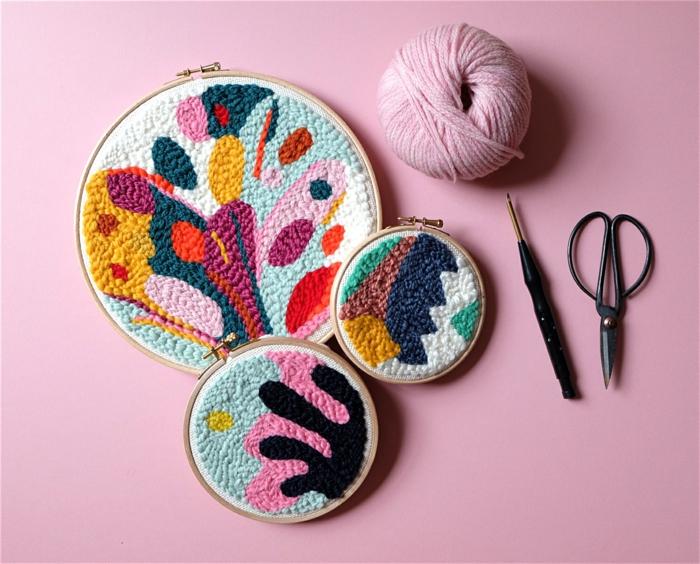 activité maternelle punch needle tuto décoration magnifique et facile à faire