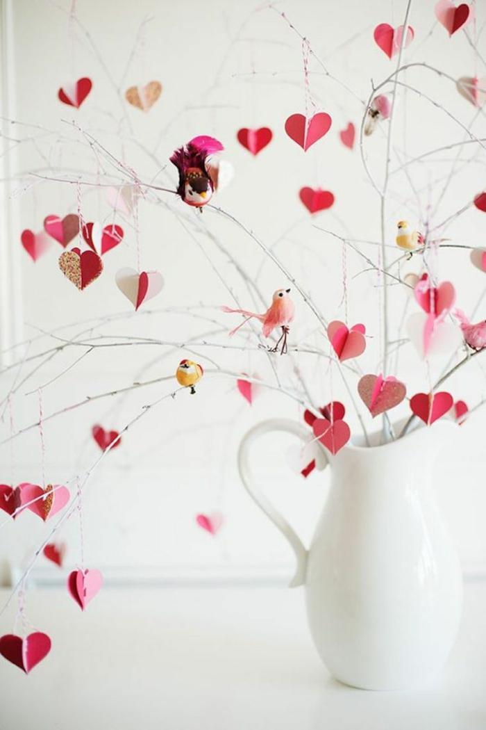 bouquet romantique aux coeurs déco chambre romantique