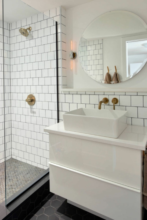 carrelage salle de bain 2020 carreaux métro couleur blanche