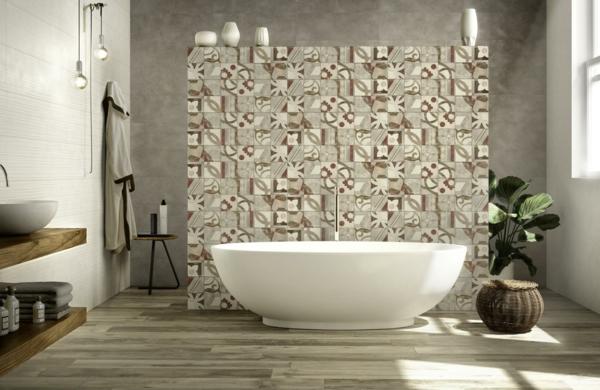 carrelage salle de bain 2020 motifs floraux vintage