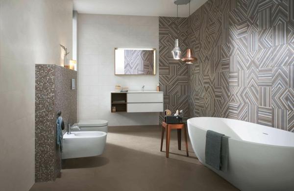 carrelage salle de bain 2020 motifs graphiques 3d