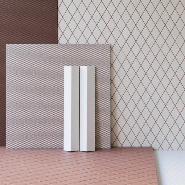 carrelage salle de bain 2020 motifs graphiques rhombiques