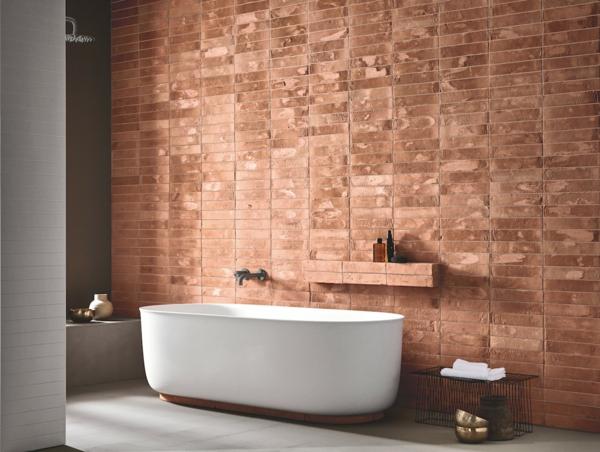 carrelage salle de bain 2020 texturé imitation briques