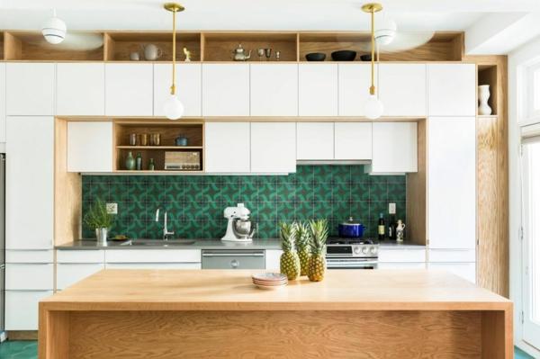 crédence cuisine 2020 carreaux carrés rétro