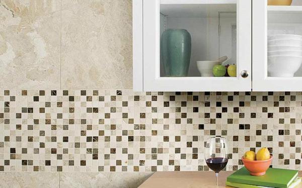 crédence cuisine 2020 tendances carreaux de marbre