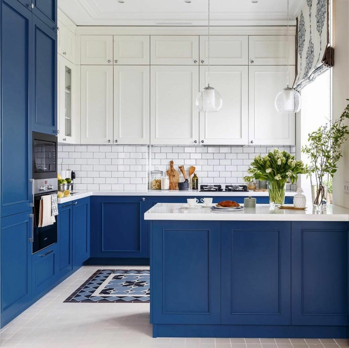 cuisine bleu classique pantone 2020