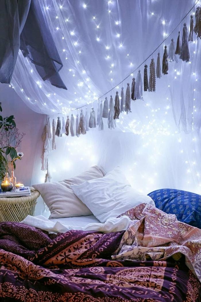 déco chambre romantique ciel de lit