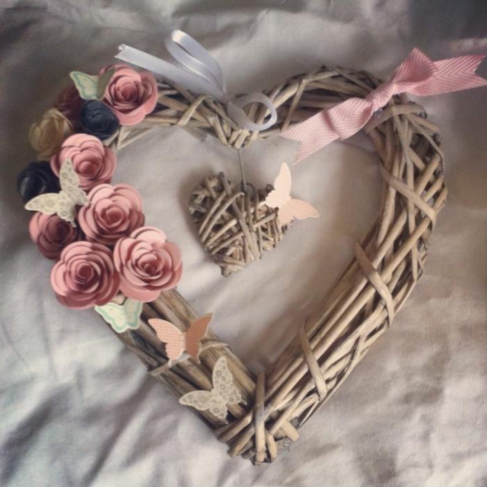 déco chambre romantique en forme de coeur