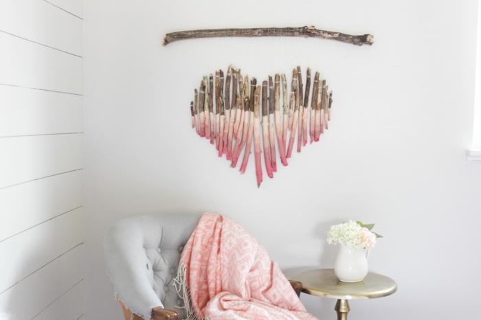 déco murale à accrocher bois flotté déco chambre romantique