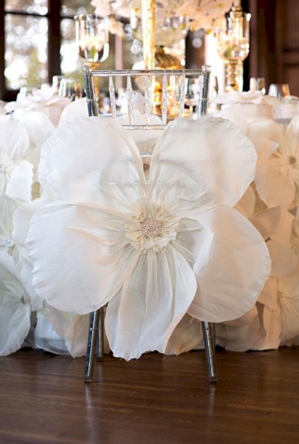 décoration salle de mariage en paper