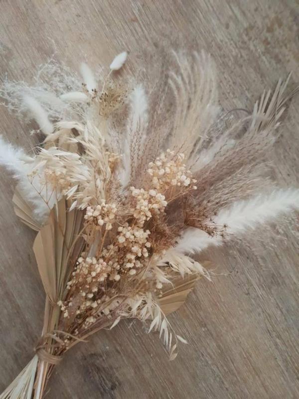 décoration salle de mariage fleurs séchées