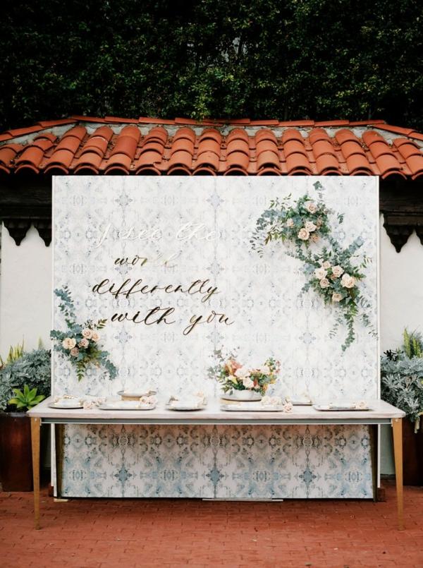 décoration salle de mariage papier peint