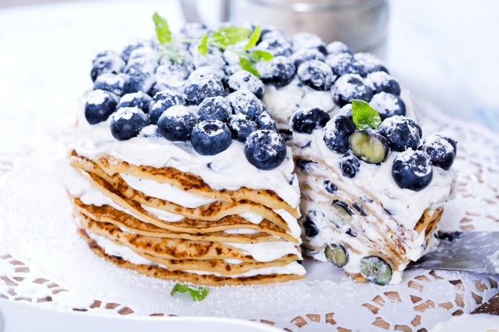dessert aux fruits recette gâteau de crêpes