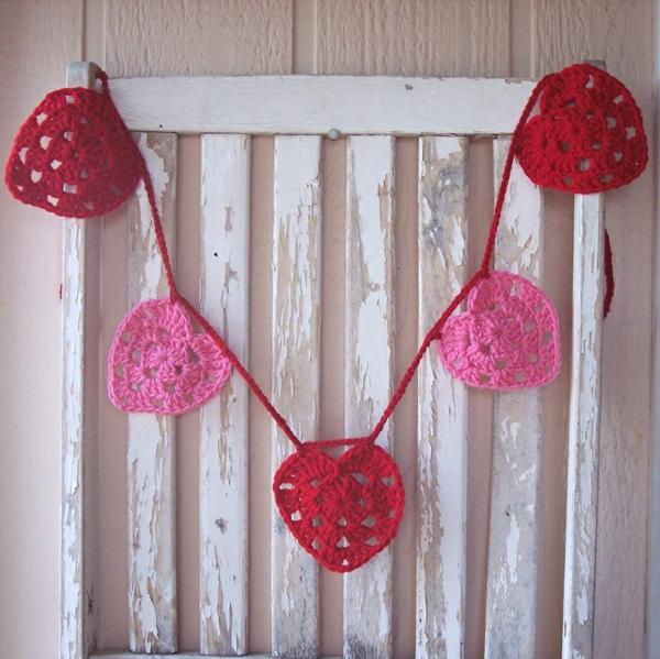 diy guirlande coeur saint valentin crochet