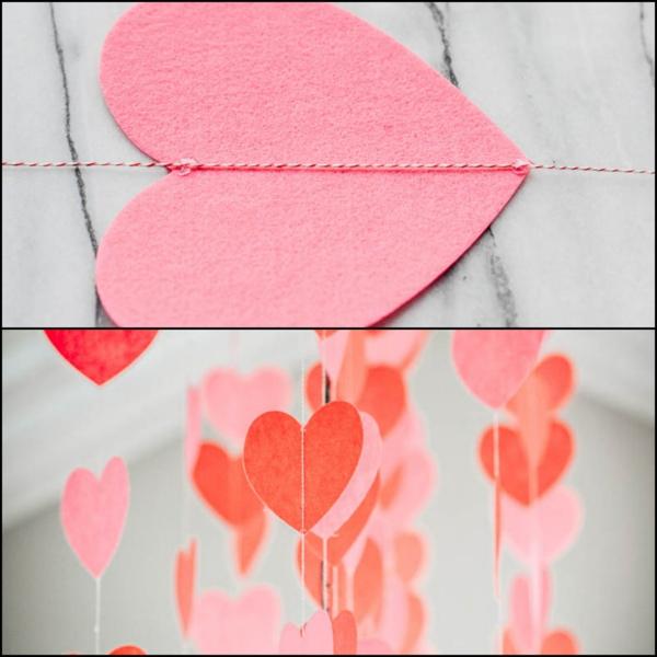 diy guirlande coeur saint valentin feutre fil de boulanger