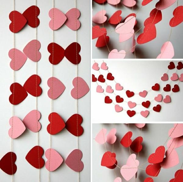 diy guirlande coeur saint valentin papier carton