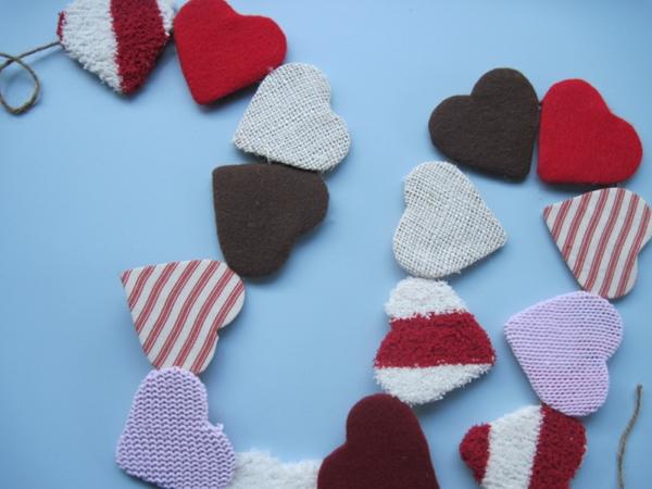diy guirlande coeur saint valentin upcycling textile