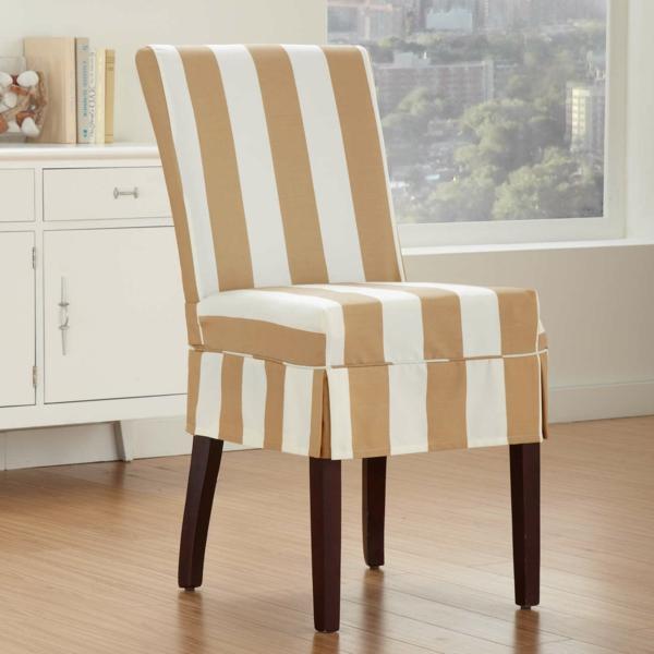 housse de chaise rayée salon