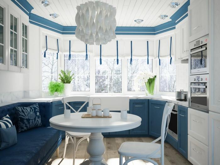 idée comment adopter la cuisine bleu classique