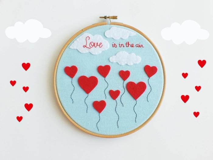 idée de broderie romantique diy déco chambre romantique