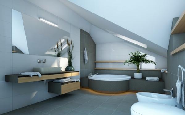 idée de salle de bains sous comble